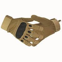 Тактические перчатки Oakley с пальцами койот