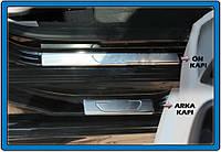 Накладки на пороги OmsaLine (4 шт, нерж) Peugeot 301