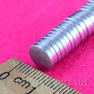(10шт) Магнит неодимовый (шайба 8х1,4мм) Выдерживает вес до 0,35 кг. (сп7нг-1141)