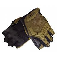 Тактические перчатки без пальцев MECHANIX Mpact Pro койот