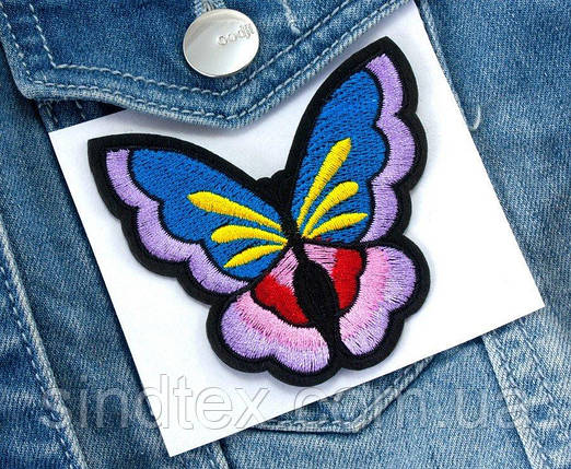 "(3шт) Термоаппликация 7,2х6,5см нашивка на одежду ""Бабочка"" Цена за 3шт (сп7нг-2084), фото 2"