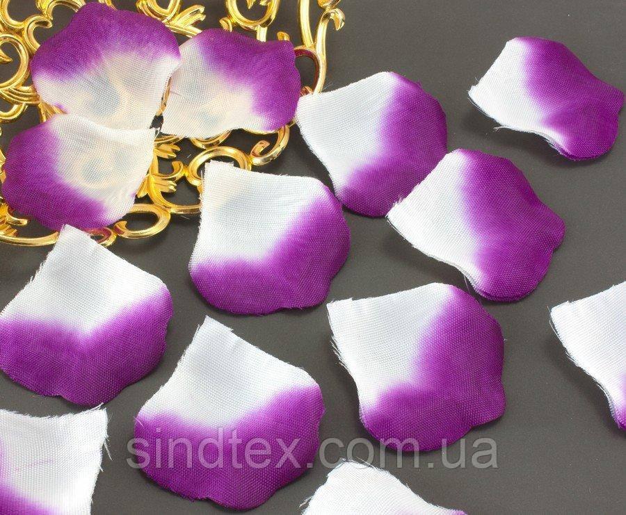 (140шт) Лепестки роз, искусственные Цена за упаковку Цвет - Бело-фиолетовый (сп7нг-0944)