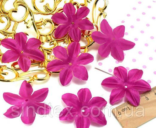 (10 ГРАММ 90 шт) Заготовка для цветка, пресс Ø48мм (с атласным блеском) Цвет - Фуксия (сп7нг-1734), фото 2