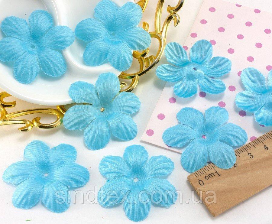 (10 ГРАММ 75 шт) Заготовка для цветка, пресс Ø48мм Цвет - Голубой (сп7нг-1567)