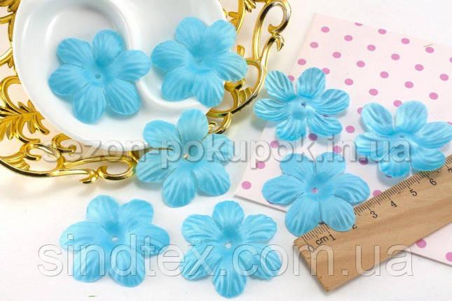 (10 ГРАММ 75 шт) Заготовка для цветка, пресс Ø48мм Цвет - Голубой (сп7нг-1567), фото 2