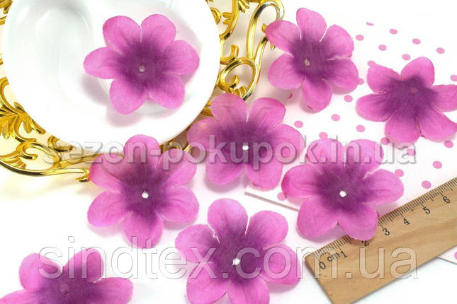 (10 ГРАММ 60 шт) Заготовка для цветка, пресс Ø55мм Цвет - Розово-сиреневый (сп7нг-1570), фото 2