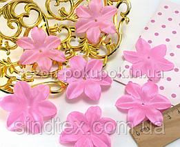 (10 ГРАММ 90 шт) Заготовка для цветка, пресс Ø48мм (с атласным блеском) Цвет - розовый (сп7нг-1736), фото 2