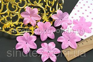 (10 ГРАММ 90 шт) Заготовка для цветка, пресс Ø48мм (с атласным блеском) Цвет - розовый (сп7нг-1736), фото 3