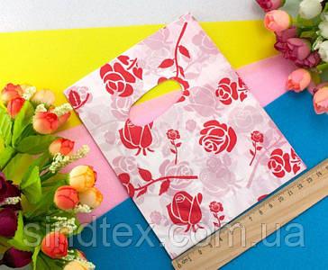 (45-50шт) Подарочные пакетики 18х14см, полиэтилен Цвет - на фото (сп7нг-0242)