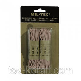 Шнурки вощеные Mil-Tec 220 см койот