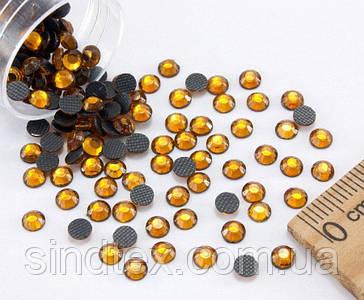 (10грамм  400шт)  Стразы SS16 стеклянные (3,7-4мм) термоклеевые Цвет - Жёлтый насыщенный (сп7нг-1149)