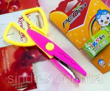 Ножницы  детские с фигурными лезвиями Цена за 1шт (сп7нг-1785)