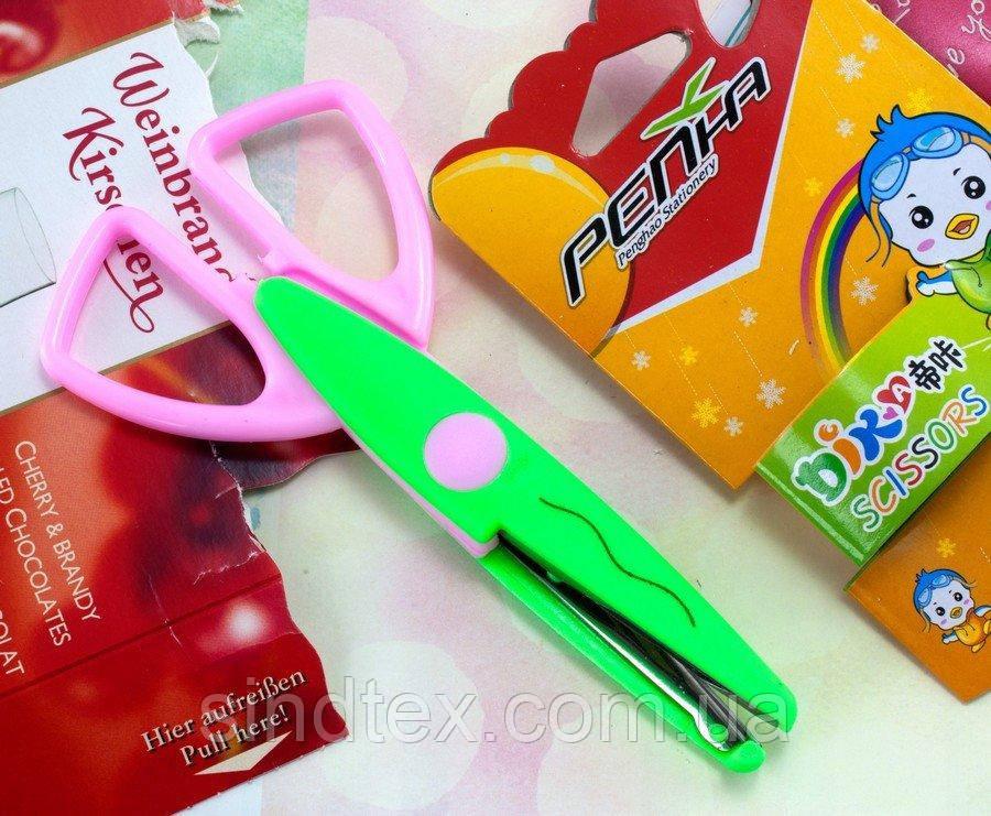 Ножницы детские с фигурными лезвиями Цена за 1шт (сп7нг-1144)
