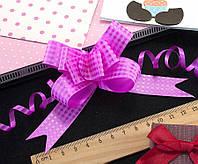 (10шт) Подарочные бантики 39х2см (13х10см в собранном виде) бант-затяжка Цвет - Фуксия (сп7нг-0472)