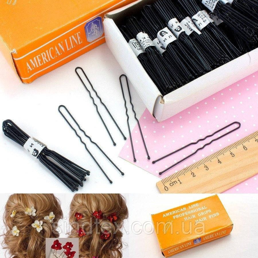 (50шт) Шпильки для волос 7см, Цена за 50шт Цвет - Чёрный (сп7нг-0559)