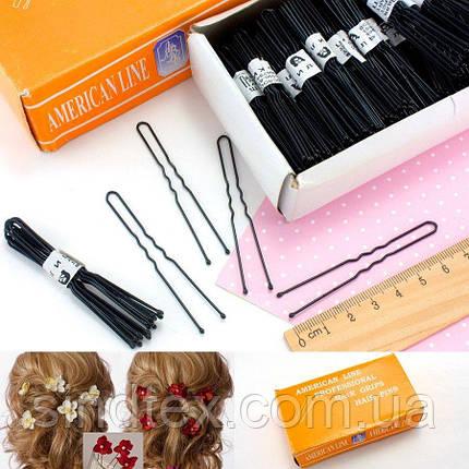 (50шт) Шпильки для волос 7см, Цена за 50шт Цвет - Чёрный (сп7нг-0559), фото 2