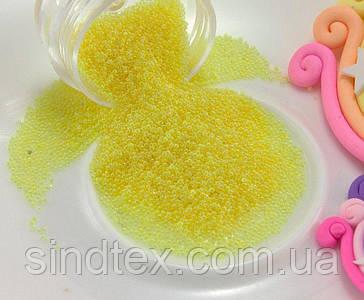 (Цена за 20 грамм) Микробисер (бульонки) присыпка (размер 0.6мм)  Цвет - Жёлтый (сп7нг-0269)