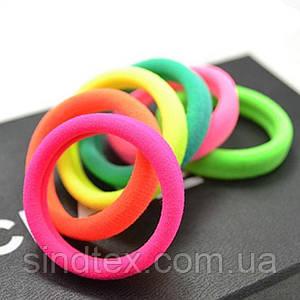 (~45-50шт) Бесшовные резиночки для волос d=4см  (микрофибра) Цвет- МИКС (сп7нг-1529)