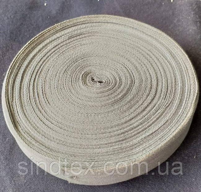 4 см Киперная лента (хлопчатобумажная, светлая сирень) - 50м. (653-Т-0515)