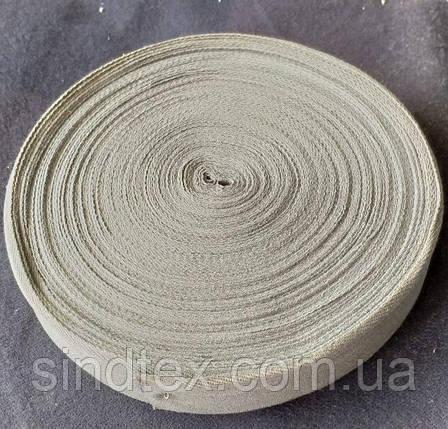 4 см Киперная лента (хлопчатобумажная, светлая сирень) - 50м. (653-Т-0515), фото 2
