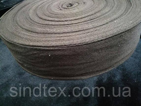 4 см Киперная лента (хлопчатобумажная, шоколад) - 50м. (653-Т-0517), фото 2