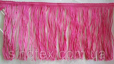 Бахрома для бальных платьев 14см х 10м  -РОЗОВАЯ (657-Л-0183)
