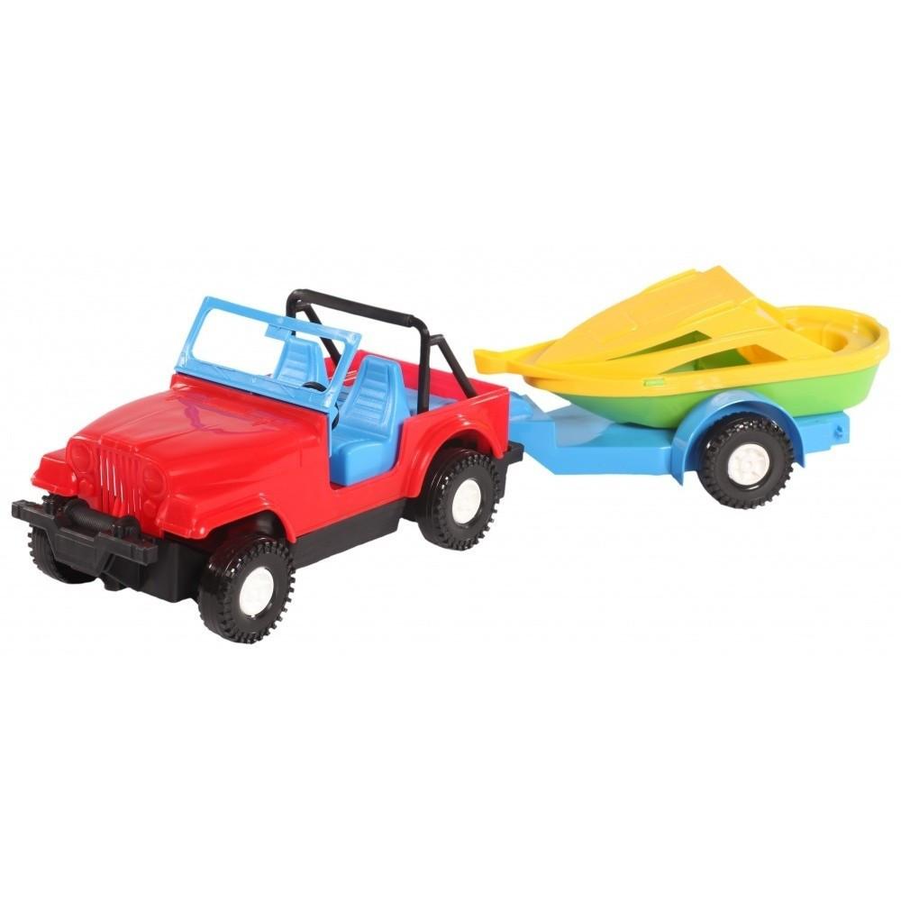 Авто-джип з причепом 16*12 5*42см (Wader)