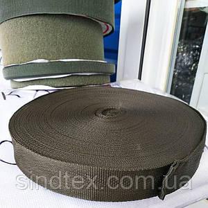 Стропа мягкая сумочная-ременная, 2,5см (бухта 50ярд. хаки) (653-Т-0137)