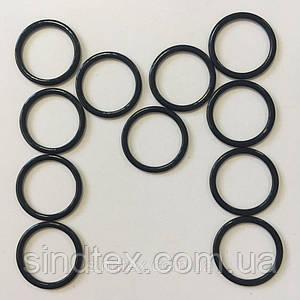 Черный 1,5 см регулятор (МЕТАЛЛ) для бретелей бюстгальтера (кольцо) (БФ-0026)