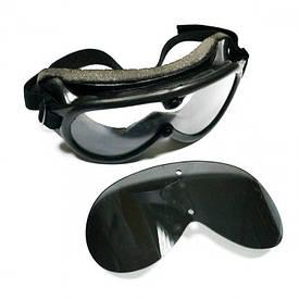 Тактическая маска очки Mil-Tec 2 линзы