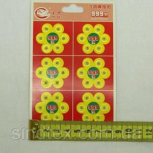 Пластиковая кнопка 0,7см  для одежды, пришивные (уп.36шт.) прозрачные (657-Л-0143)