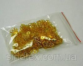 20 грамм(45-50шт D-1,5см) обниматели для бусин, цвет ЗОЛОТО (657-Л-0560), фото 3