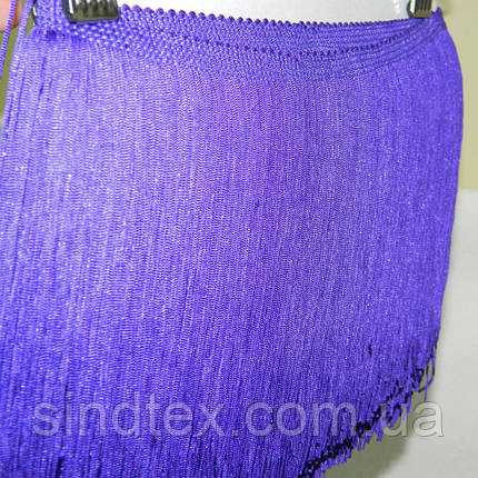 Бахрома для бальных платьев 15см х 9м  -02 (фиолетовый) (653-Т-0224), фото 2