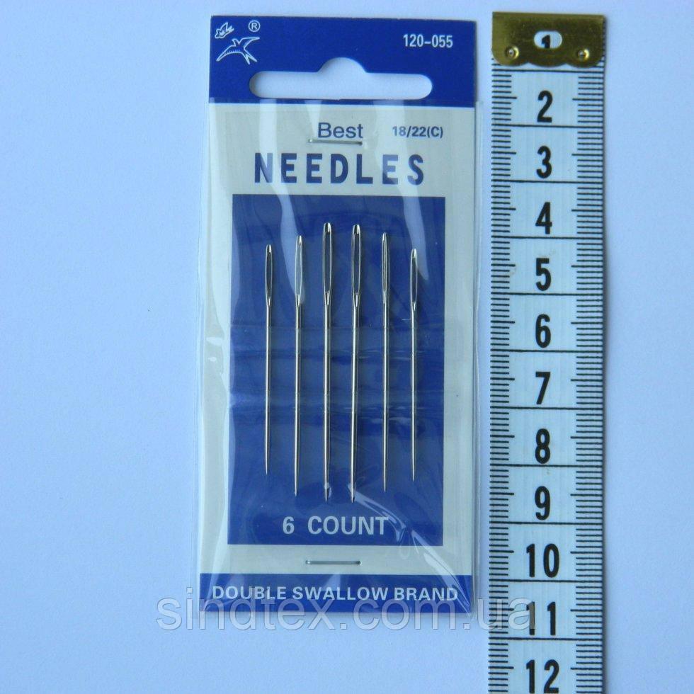 Х055 Иглы ручные NEEDLES (Иголки для ручного шитья) (657-Л-0021)