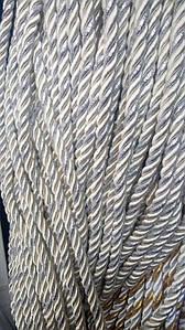 Декоративный шнур для натяжных потолков, ОЛИВА С СЕРЕБРОМ 10 мм (50ярд) (1-2123-07)