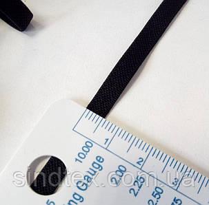 НА МЕТРАЖ Резинка ЧЕРНАЯ для бретель, ширина 0,5см (отрез кратно 1 м.) (657-Л-0302)