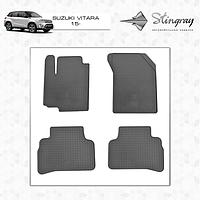Резиновые коврики (4 шт, Stingray Premium) Suzuki Vitara 2015↗ гг.