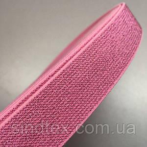 Резинка поясная с люрексом 2.5см, длина 25 ярдов ≈ 23 метра. розовый (657-Л-0326)
