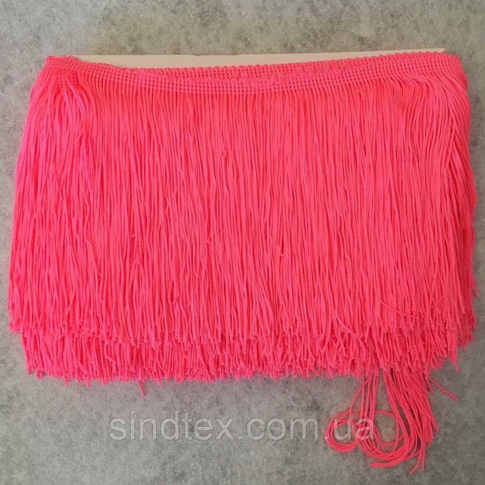 Бахрома для бальных платьев 15см х 9м  -16 (ярко-розовый) (653-Т-0403)