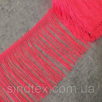 Бахрома для бальных платьев 15см х 9м  -16 (ярко-розовый) (653-Т-0403), фото 2