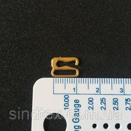 Золотой 1 см регулятор (МЕТАЛЛ) для бретелей бюстгальтера (застежка) (БФ-0016), фото 2