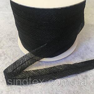 Долевик клеевой по косой черный, 1,5 см 100 ярдов (657-Л-0534)
