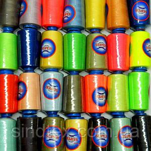 ОПТ от 120 шт (ящик) Нитки Super швейные цветные 40/2 4000ярдов (6-2274-М-CO)