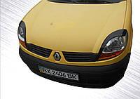 Реснички (2 шт, Черный ABS) Renault Kangoo 1998-2008 гг.