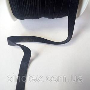 НА МЕТРАЖ Резинка черная для бретель, ширина 1см - ЧЕРНАЯ (653-Т-0132)
