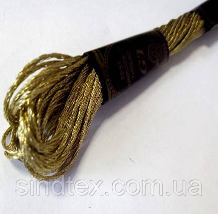 Нитка мулине 8м. (нитки для вышивания) Цвет - ЖЕЛТОЕ ЗОЛОТО (657-Л-0510), фото 2