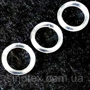 10 шт. - Прозрачный 1 см регулятор (ПЛАСТИК) для бретелей бюстгальтера (кольцо) (БФ-0004)