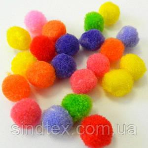 (уп 10 шт.) 1,5см Помпончики (помпоны) мягкие шарики для рукоделия, поделок и декора (657-Л-0295)