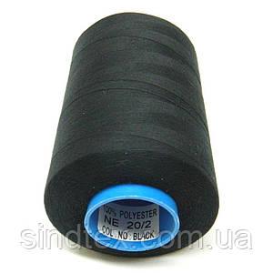 Армированные нитки Super 20/2 черные 5000 ярдов (6-2274-М-Ачерн)