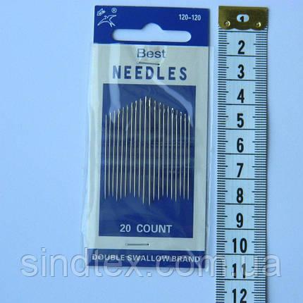 Х120 Иголки для шитья NEEDLES (Иголки для ручного шитья) (657-Л-0027), фото 2